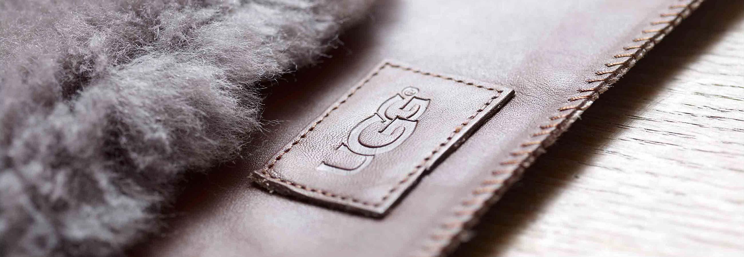 UGG brand label close up